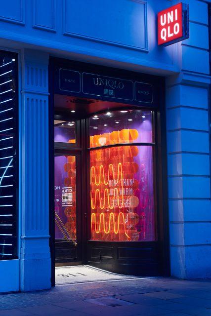 Oxford Street HeatTech window display.
