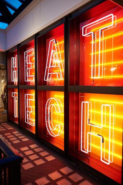 HeatTech neon light display.